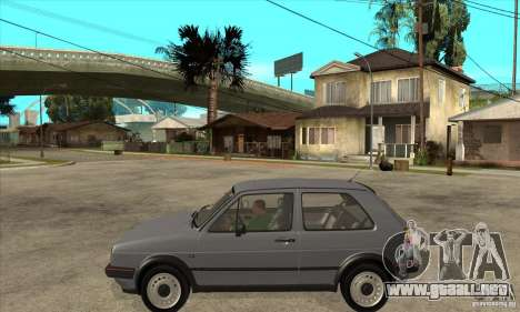 Volkswagen Golf 2 GTI 1984 para GTA San Andreas left