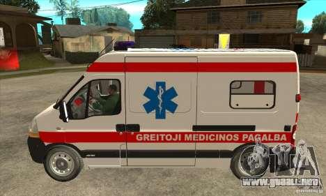 Renault Master Ambulance para GTA San Andreas left