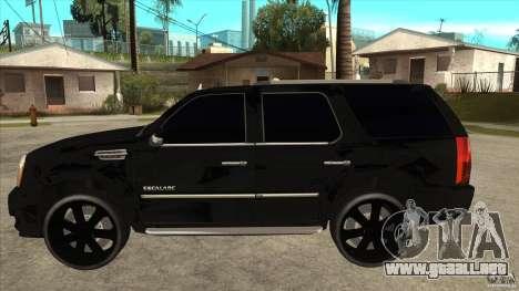 Cadillac Escalade Unique Autosport para GTA San Andreas left