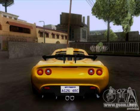 Lotus Exige para visión interna GTA San Andreas