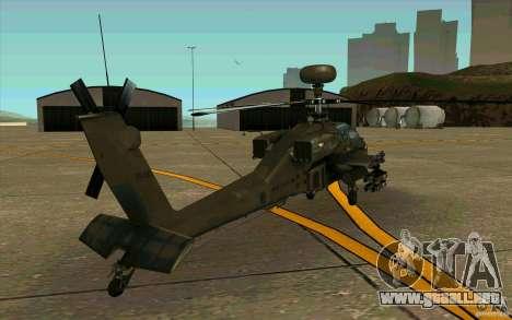 Apache AH64D Longbow para la visión correcta GTA San Andreas