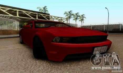 Ford Mustang 2010 para visión interna GTA San Andreas