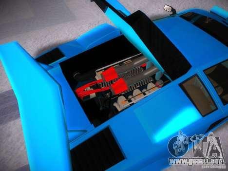 Lamborghini Countach LP5000 para visión interna GTA San Andreas