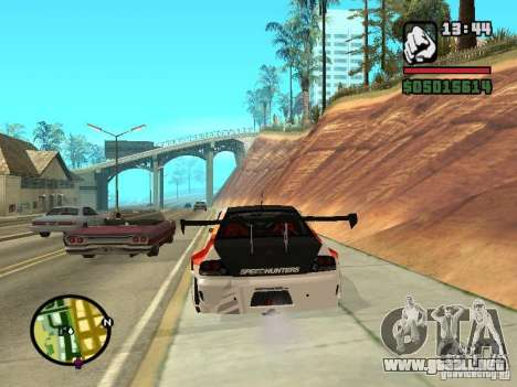 Mitsubishi Lancer Evo IX SpeedHunters Edition para GTA San Andreas vista posterior izquierda