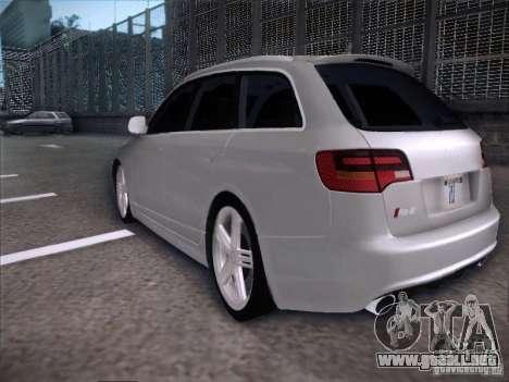 Audi RS6 Avant para GTA San Andreas vista posterior izquierda