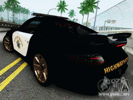 Porsche 911 GT2 RS (997) Police para GTA San Andreas