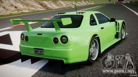 Nissan Skyline R34 v1.0 para GTA 4 vista desde abajo