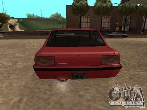 Vincent estándar para GTA San Andreas vista posterior izquierda