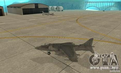 AV-8 Harrier para GTA San Andreas left