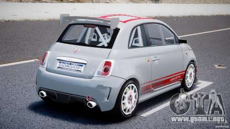 Fiat 500 Abarth para GTA 4 Vista posterior izquierda