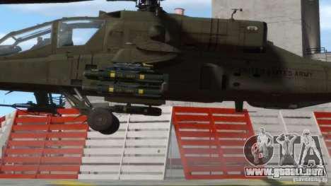 AH-64D Longbow Apache v1.0 para GTA 4 vista hacia atrás