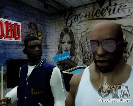 Rosa gafas de aviador para GTA San Andreas tercera pantalla