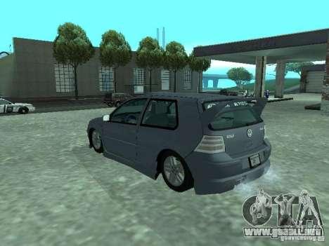 Volkswagen Golf IV para vista inferior GTA San Andreas