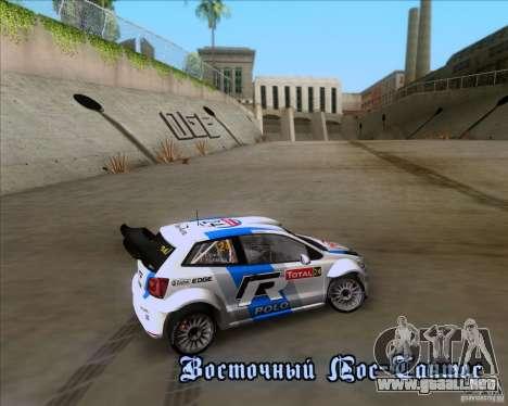 Volkswagen Polo WRC para visión interna GTA San Andreas