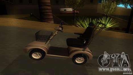 Elektroscooter - Speedy para GTA San Andreas vista hacia atrás