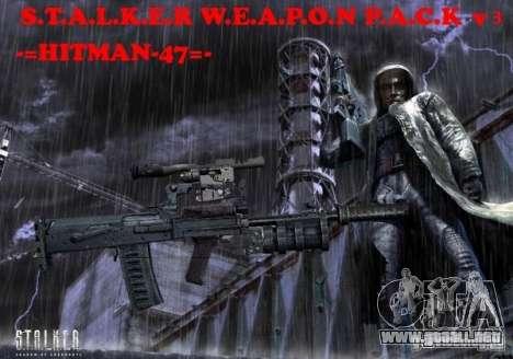 Un conjunto de armas de acosador V3 para GTA San Andreas