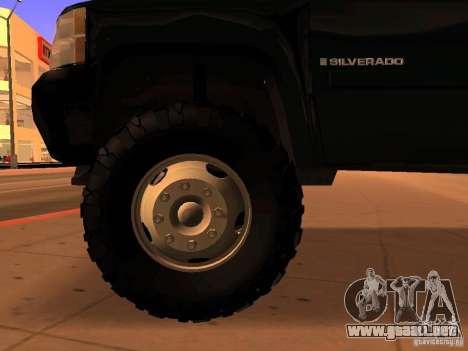 Chevrolet Silverado HD 3500 2012 para la visión correcta GTA San Andreas
