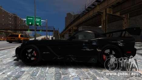 Dodge Viper SRT-10 ACR 2009 para GTA 4 vista lateral