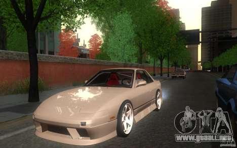 Nissan Silvia S13 Onevia para GTA San Andreas vista posterior izquierda