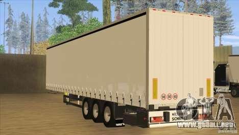 SchmitZ Cargobull para GTA San Andreas vista posterior izquierda
