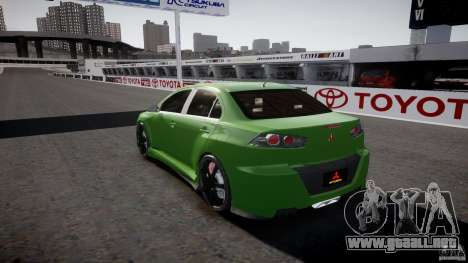 Mitsubishi Lancer Evolution X Tuning para GTA 4 vista desde abajo
