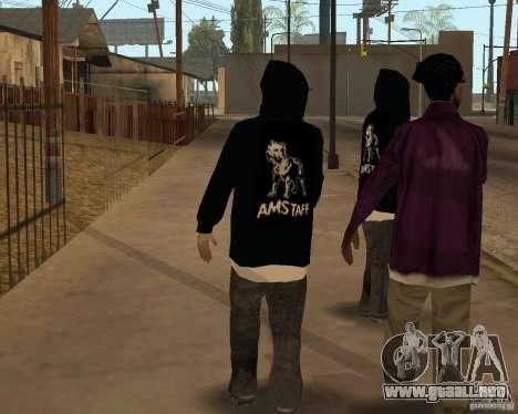 Nuevo distribuidor de droga para GTA San Andreas segunda pantalla