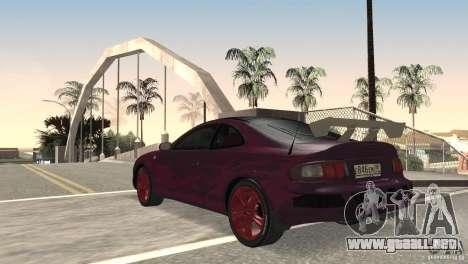 Toyota Celica para GTA San Andreas vista posterior izquierda