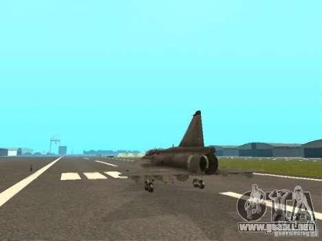 Saab JA-37 Viggen para la visión correcta GTA San Andreas