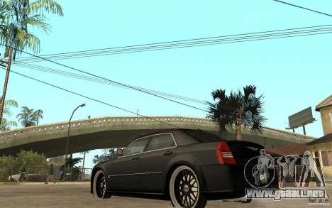 Chrysler 300C DUB para GTA San Andreas vista posterior izquierda