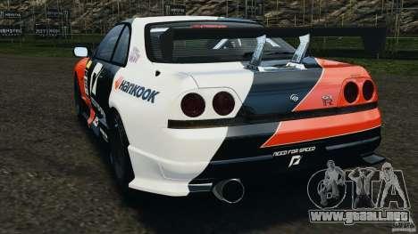 Nissan Skyline GT-R (R33) v1.0 para GTA 4 Vista posterior izquierda