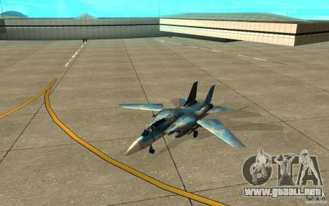 F-14 Tomcat Blue Camo Skin para GTA San Andreas left