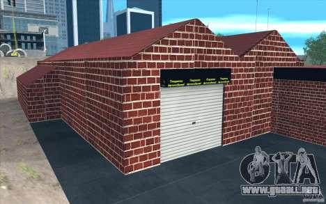 Nuevo garaje de Dorothy para GTA San Andreas sexta pantalla