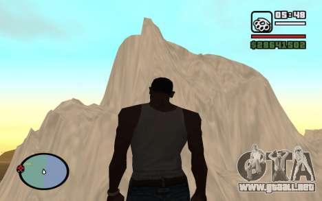 Mountain map para GTA San Andreas quinta pantalla