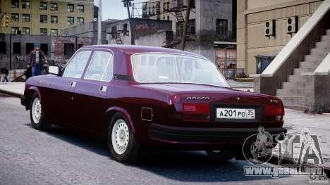 GAZ 3110 Volga para GTA 4 Vista posterior izquierda