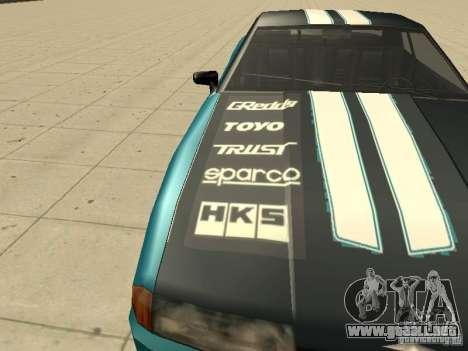 Elegy Forsage para visión interna GTA San Andreas