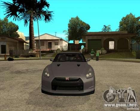 2008 Nissan GTR R35 para GTA San Andreas vista hacia atrás