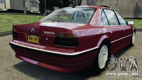 BMW 750iL E38 1998 para GTA 4 Vista posterior izquierda