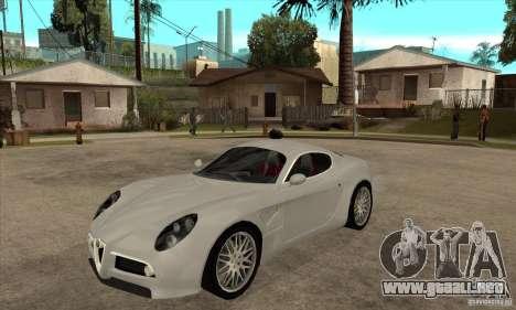 Alfa Romeo 8 c Competizione stock para GTA San Andreas left