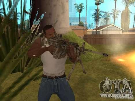 Ametralladora MK-48 para GTA San Andreas sucesivamente de pantalla