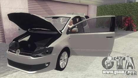 Volkswagen Fox 2013 para GTA San Andreas vista posterior izquierda