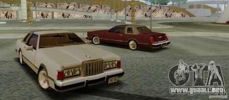 Virgo Continental para GTA San Andreas vista posterior izquierda