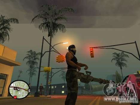 M134 Minigun de CoD: Mw2 para GTA San Andreas quinta pantalla