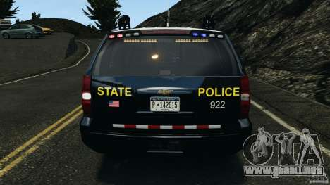 Chevrolet Tahoe Marked Unit [ELS] para GTA 4 interior