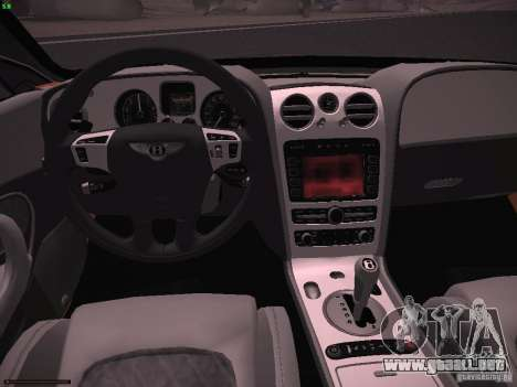 Bentley Continetal SS Dubai Gold Edition para GTA San Andreas vista hacia atrás