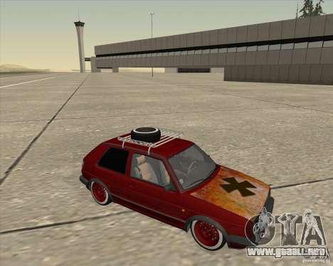 VW Golf II Shadow Crew para GTA San Andreas vista hacia atrás