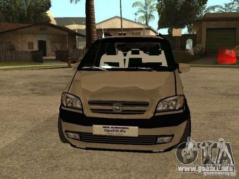 Opel Zafira para vista lateral GTA San Andreas