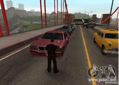 Un terrorista suicida en el puente para GTA San Andreas segunda pantalla