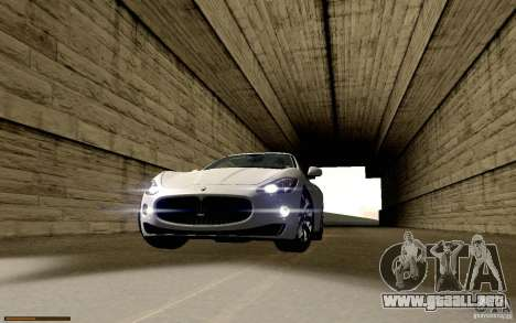 Maserati Gran Turismo 2008 para vista inferior GTA San Andreas
