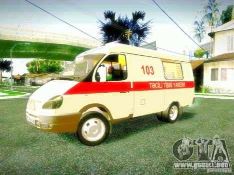 Gacela 2705 BAKU AMBULANS para GTA San Andreas left