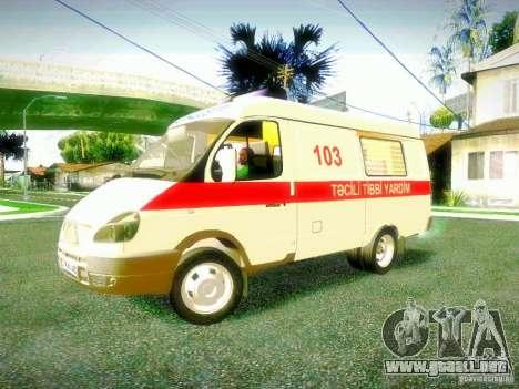 Gacela 2705 BAKU AMBULANS para GTA San Andreas left